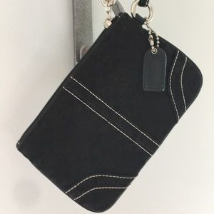 Black Coach signature wristlet